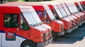 Canada-Post-Trucks-Parking-lot