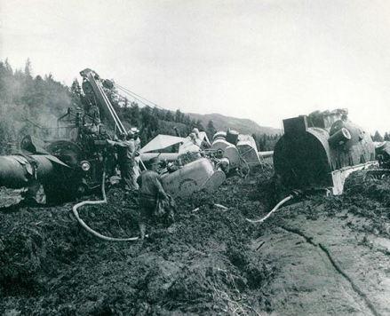 Trans Mountain Wrapping and coating crew near Yellowhead Pass Alberta