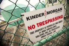 Kinder Morgan Canada No Trespassing Sign