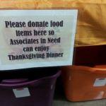 walmart-donation bins for staff