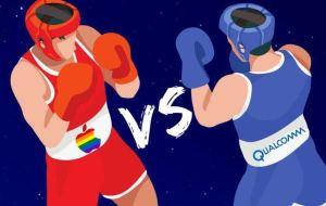 Apple Qualcomm boxers fight
