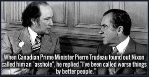 Nixon Trudeau Asshole