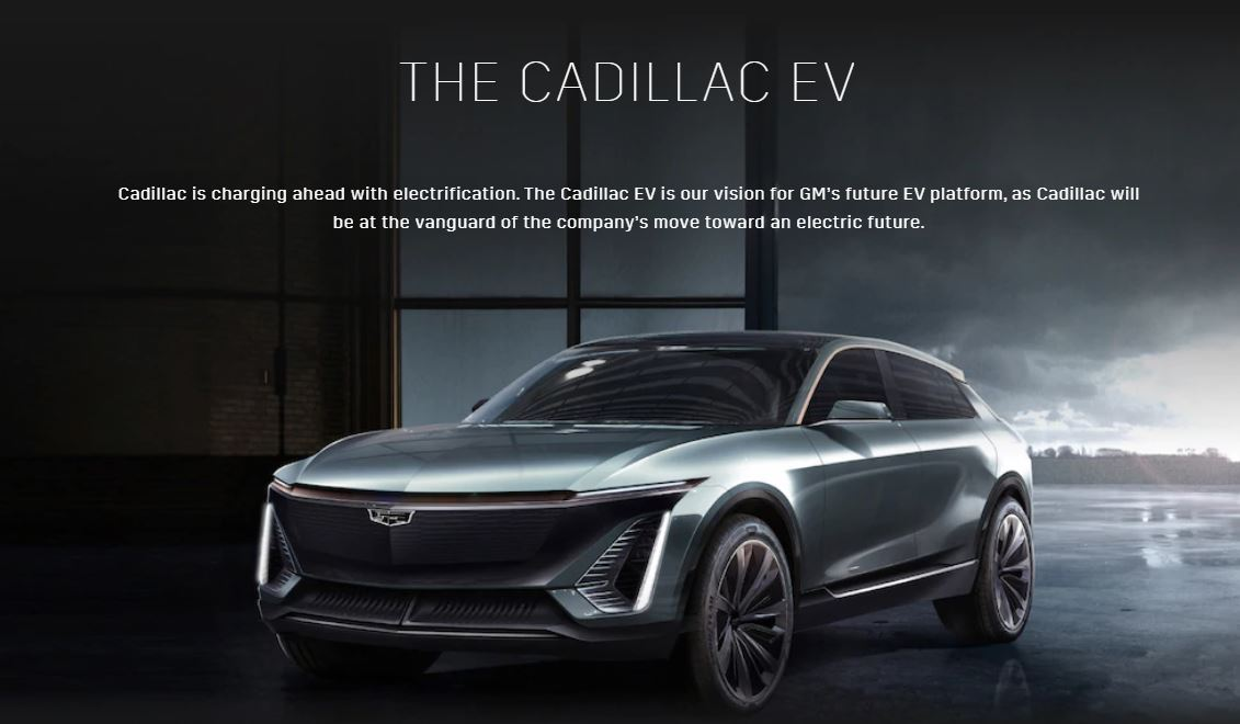 Cadillac EV SUV Announced without a Name