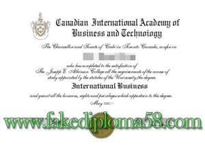 Canadian International Academy deploma