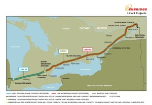 Enbridge Line 9 in Ontario Reversal