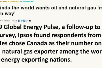 Survey finds the world wants oil and natural gas made the Canadian way