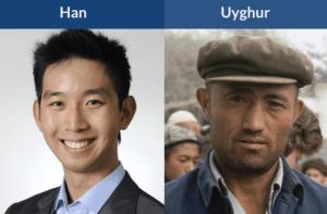 han chinese vs uyghur faces