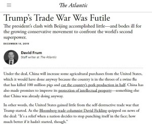 David Frum - Trumps Trade Deal With China Is a Failure