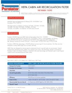Boeing Hepa Air Filter