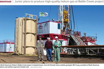 helium in western Canada