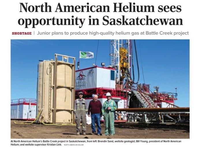 na helium Saskatchewan
