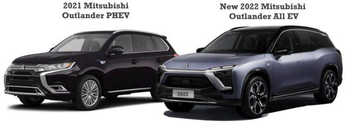 2022 Mitsubishi Outlander Plug In EV vs 2021 Mitsubishi Outlander PHEV