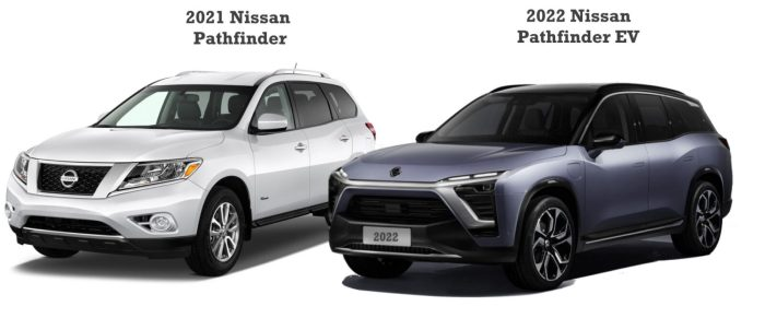 2022 Nissan Pathfinder Plug In EV vs 2021 Nissan Pathfinder