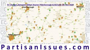 all ev chargers milton keynes peterborough and norwhich uk nov 2020