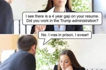 trump joke- i was in jail