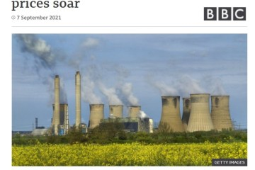 uk fires up coal power plants sept 2021 shortage of electricity