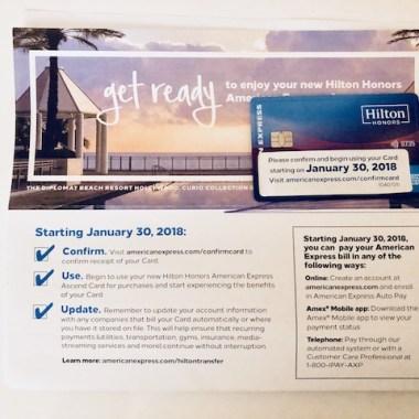 Amex Hilton Ascend Card Arrived January 15