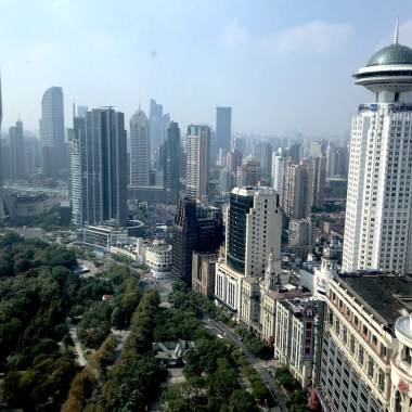People's Park View from the Le Royal Meridien Shanghai
