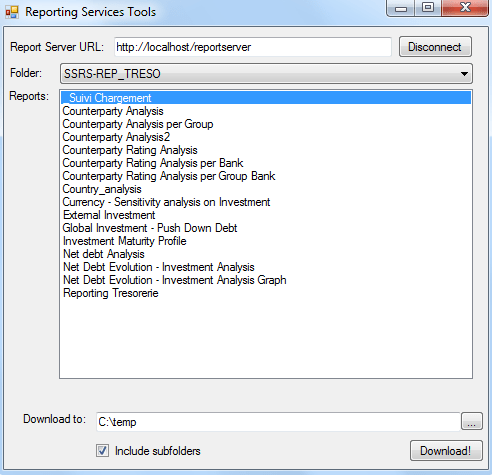 SSRS Report Downloader