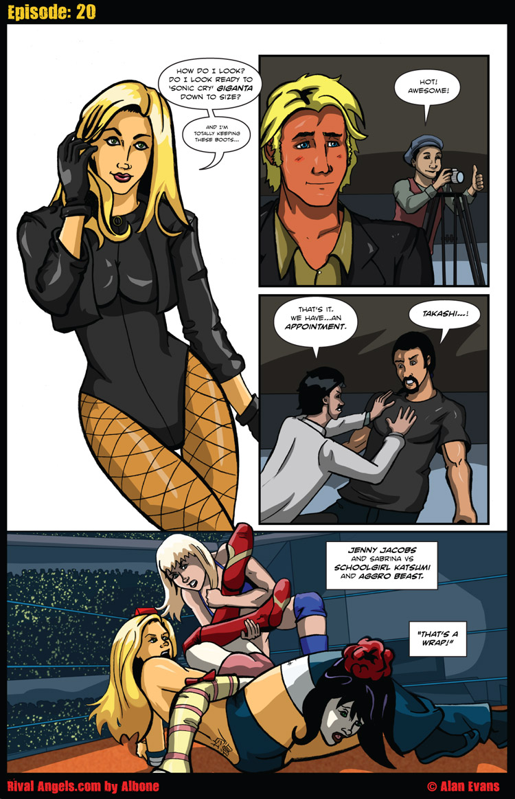 I'm sorry, but I think Black Canary is way hot. And so is Jenny Jacobs. :P