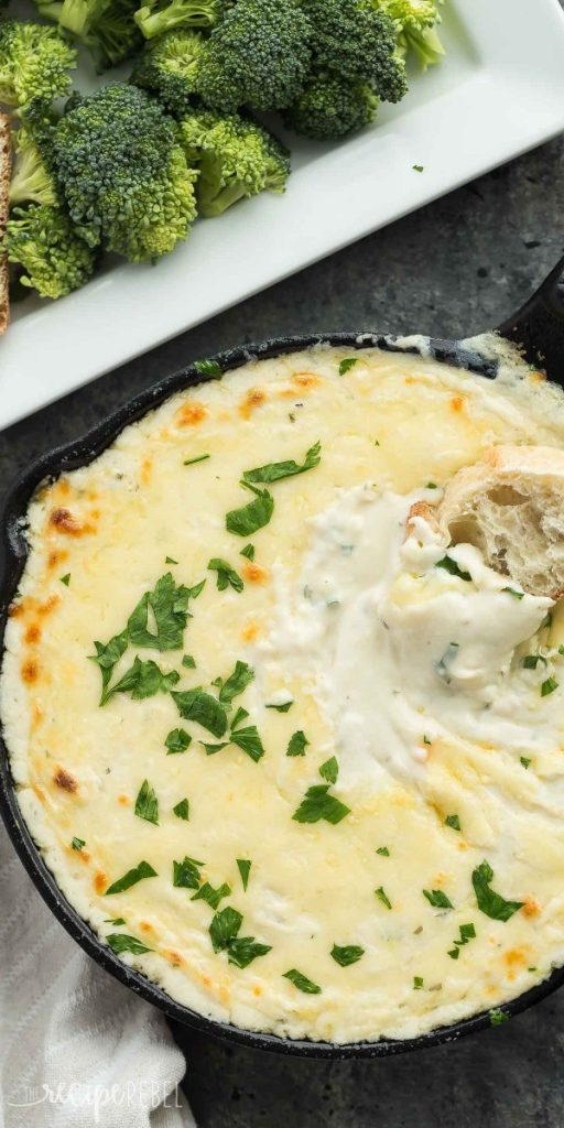 Cheesy Chicken Alfredo Dip by The Recipe Rebel