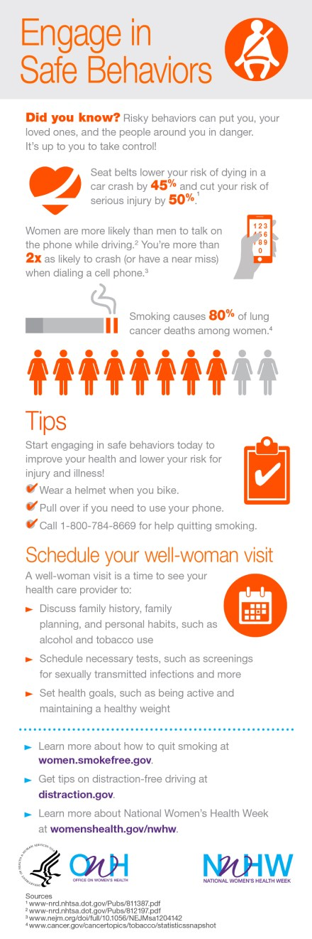 Be Safe | National Women's Health Week 2017 | Rosewood and Grace