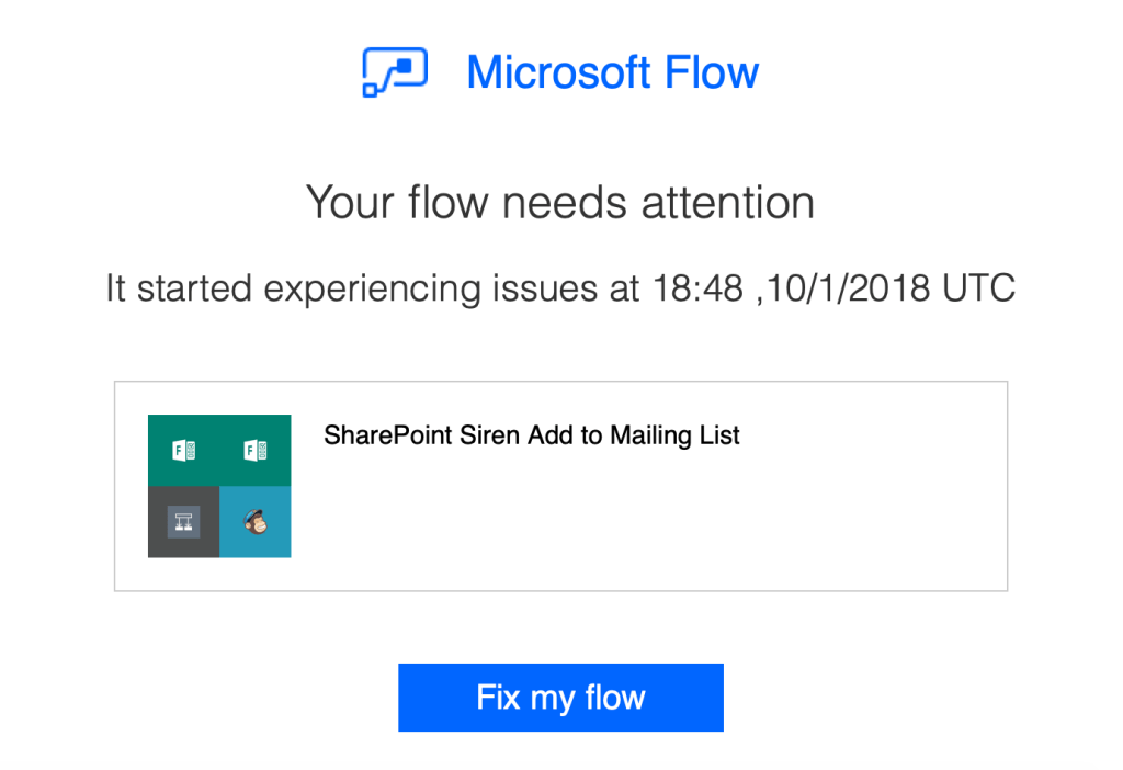PSA - Enabling MFA for O365 may break Flow Connections