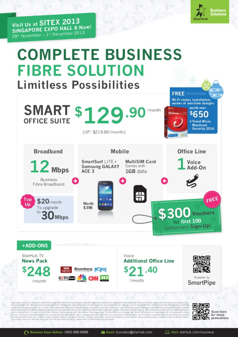 SITEX 2013 - StarHub - Business - Page1
