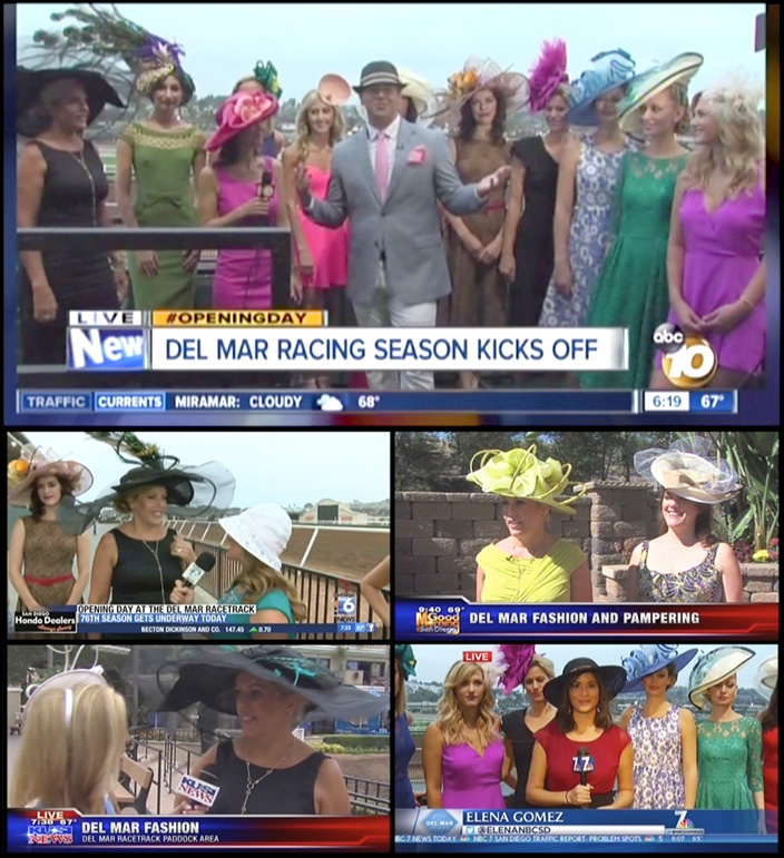 Opening Day Fashion Interviews with CW6, NBC7, CBS8, KUSI9, and ABC10