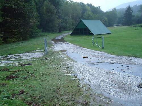 stormwater damage at a Vermont fishery