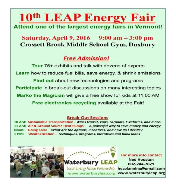 Waterbury LEAP Energy Fair