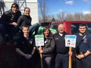 Sustainable Williston with Williston Fire Department at Pancake Breakfast
