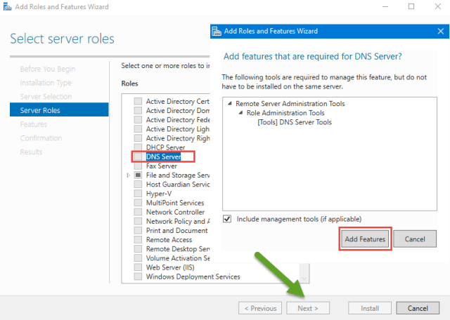 How to Install DNS Server on Windows Server 2016 – Microsoft