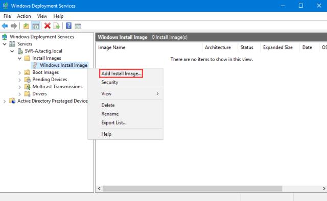 Add Install Image