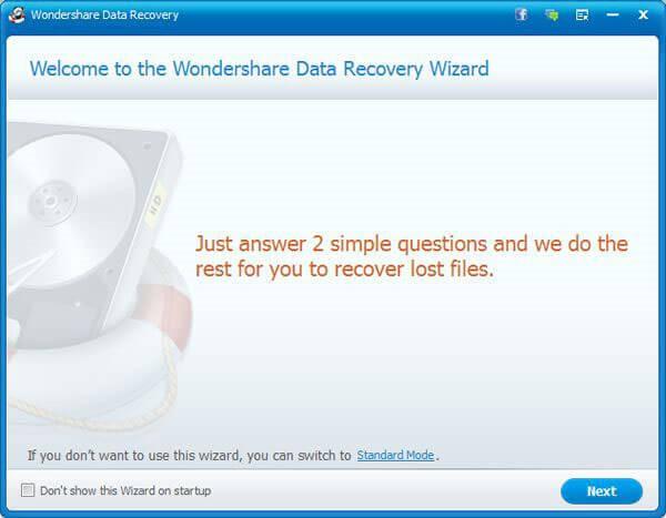 WonderShare Data-Recovery Wizard