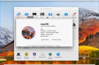 macOS High Sierra Installed