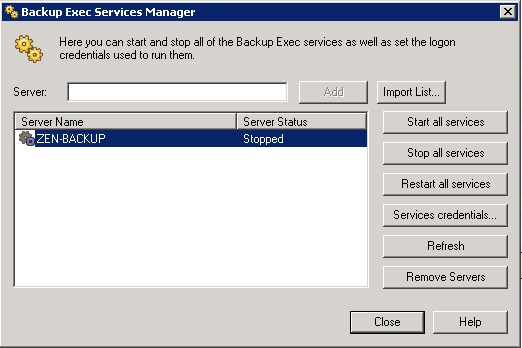 BE-Services Veeam 7 Backup and Recovery - Missing Tape Device