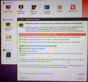 Ubuntu Hardware Drivers