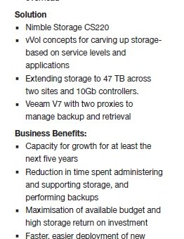Transform-Nimble-Profile Cosmetic Surgery Company Transforms its Storage and Back-up Infrastructure to Comply with Pending Regulation and Enhance Patient Safety