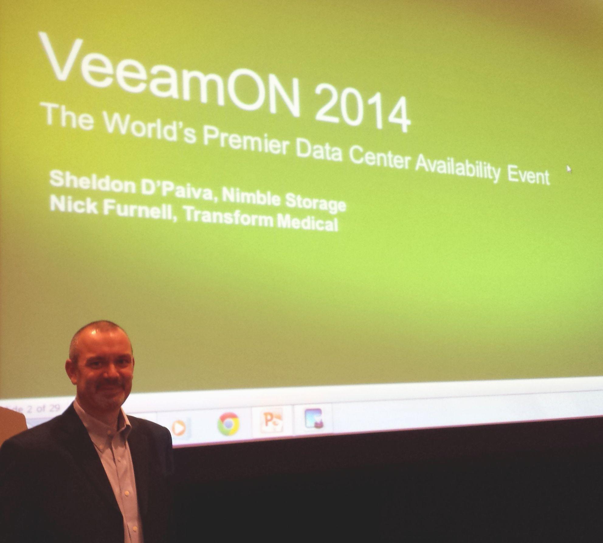 Vegas-Presentation-3 VeeamOn 2014 Presentation with Nimble Storage
