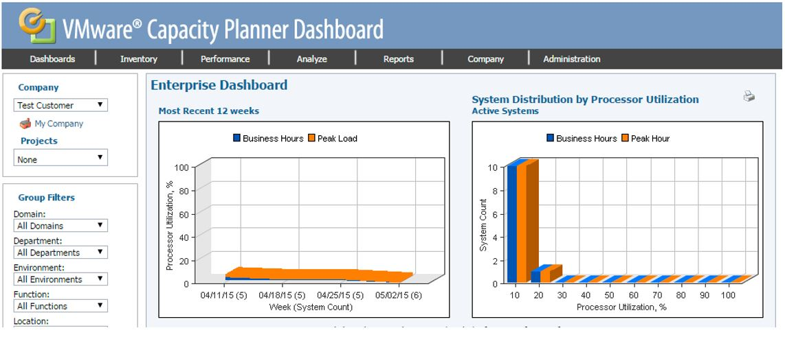 Cap-Planner-Dashboard How to customise which Servers/Desktops are in a VMware Capacity Planner Project