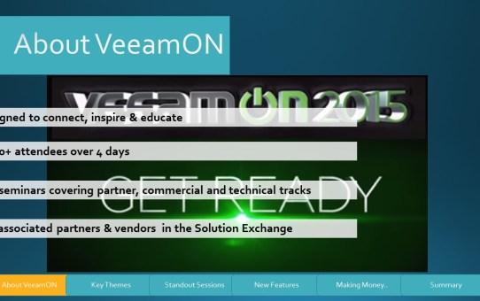 Slide4 What is VeeamOn..?
