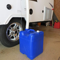 Gray water outlet for pop up camper - The DIY Girl