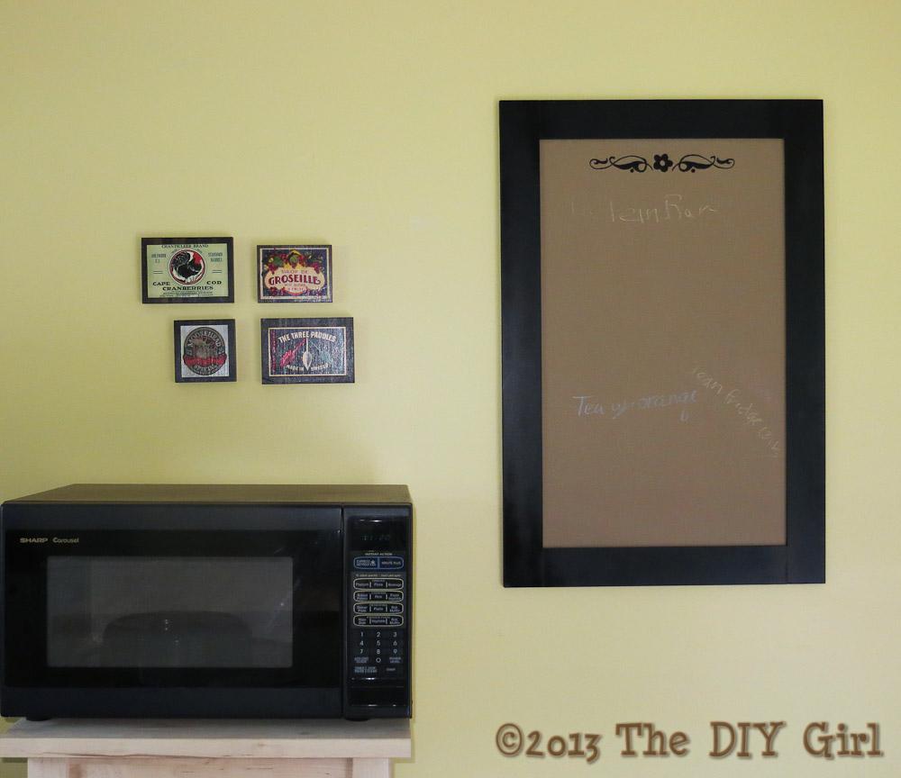 diy framed chalkboard from mdf the diy girl - Diy Framed Chalkboard