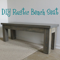 DIY Rustic Bench Seat - The DIY Girl