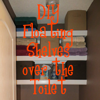 DIY floating shelves over toilet - The DIY Girl