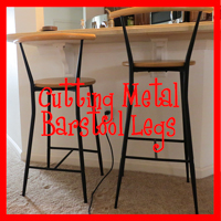 Cutting metal bar stool legs - The DIY Girl