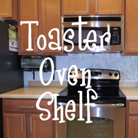 Toaster oven shelf - The DIY Girl