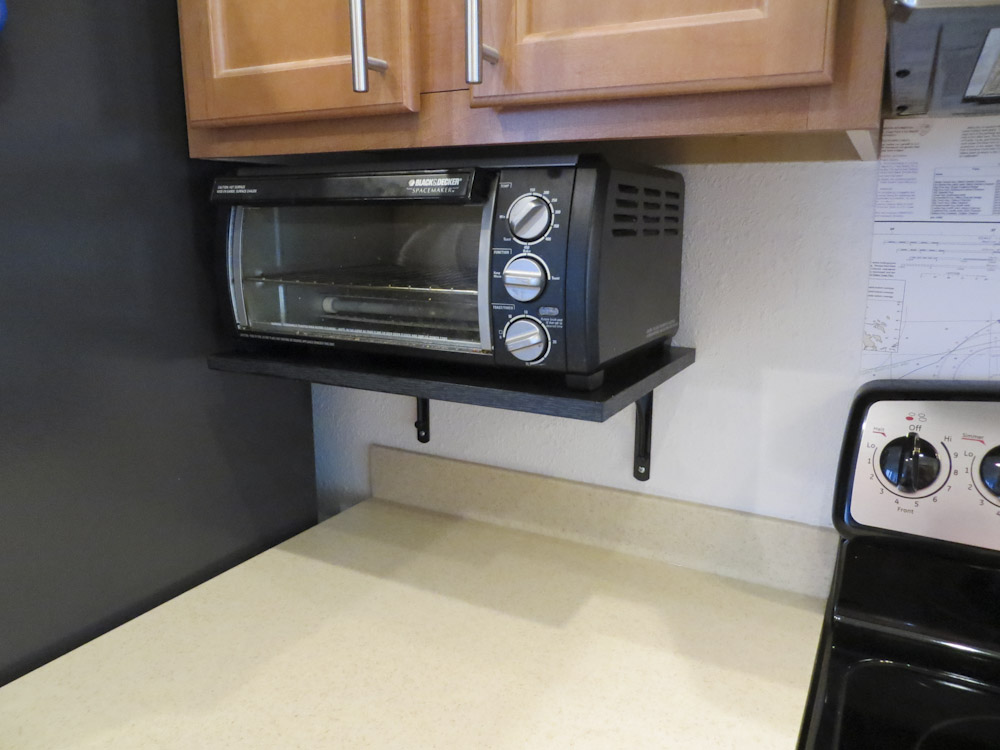 Toaster oven shelf - The DIY Girl