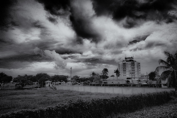 Pegasus and the Clouds - BW HDR